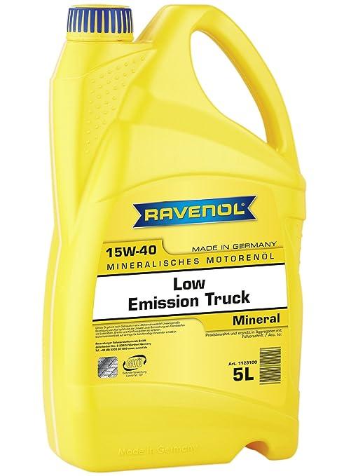 Amazon.com: Ravenol j1 a1880 baja emisión Camión 15 W-40 ...