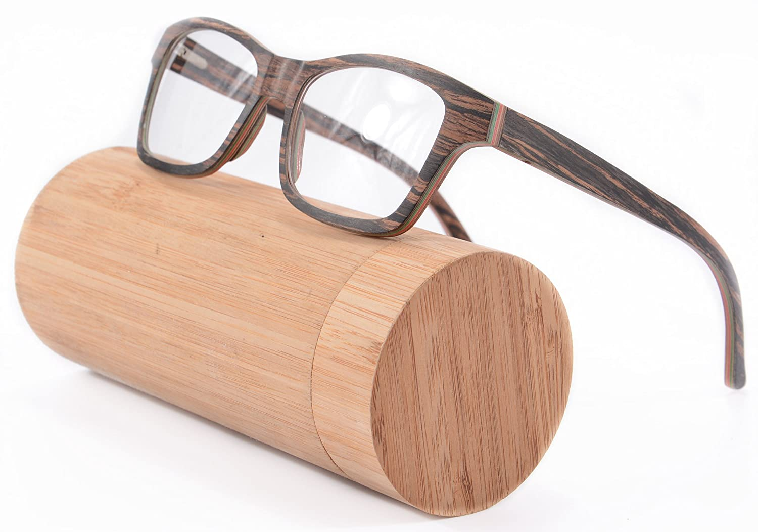 amazoncom 11 layers wood frame glasses walnut and maple wayfarers eyeglasses for men 6167maple walnut clothing - Wood Frame Glasses