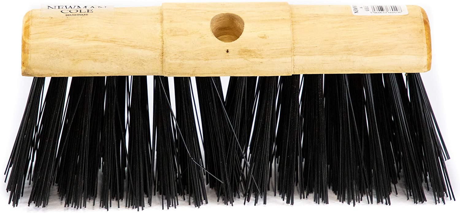 13 Poly Saddle Broom Complete with Handle Outdoor Garden Yard and Patio Broom Newman and Cole 13 Poly Garden Broom Heavy Duty Saddle Sweeping Brush