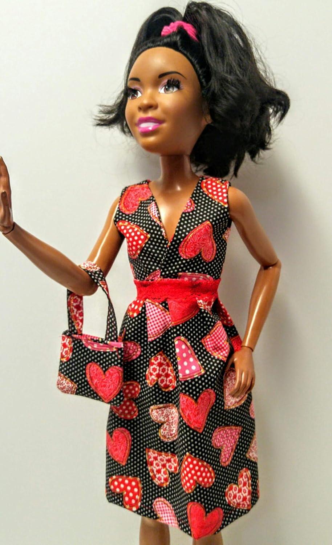 Doll clothes Doll dress Barbie dress Dress for 28 inch Barbie Lovely handmade doll Valentine dress