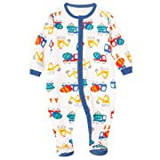 Schmoopy Baby Boy Car Footed Pajamas Sleeper 0-6 Months
