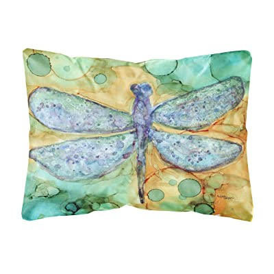 Caroline's Treasures 8967PW1216 Abstract Dragonfly Fabric Decorative Pillow, 12H x16W, Multicolor : Garden & Outdoor