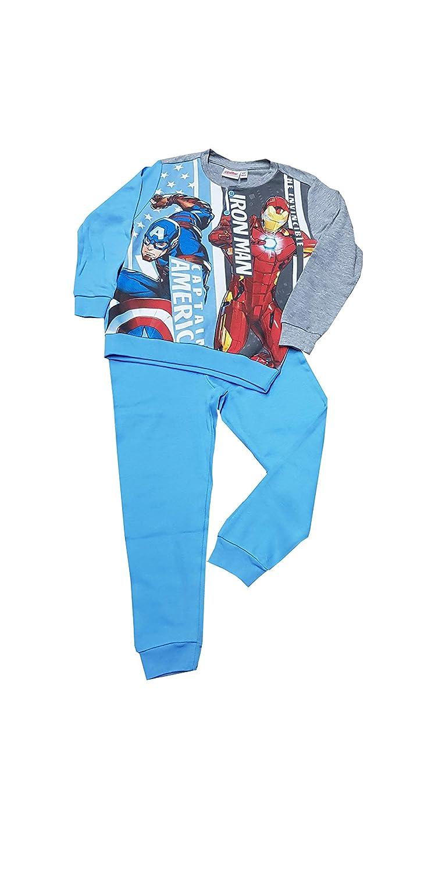 Pigiama Due Pezzi Avengers in Caldo Cotone interlok per Bambino Art. 46637