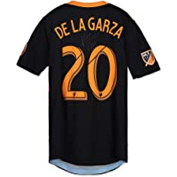 A.J. DeLaGarza Houston Dynamo Autographed Match-Used Black #20 Jersey vs. LA Galaxy on October 28, 2018 - Fanatics Authentic Certified photo