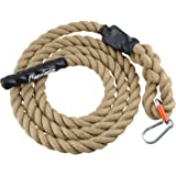 Perantlb Outdoor Climbing Rope for Fitness and Strength Training, Workout Gym Climbing Rope, 1.5'' in Diameter, Length Available: 10, 15, 20, 25, 30, 50 Feet