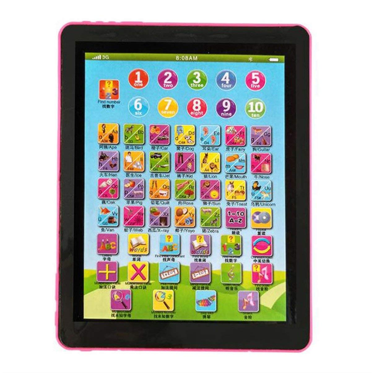 Durable Children Learning English Tablet Portable Kids Computer 8 Different Learning Modes Child Educational Toy