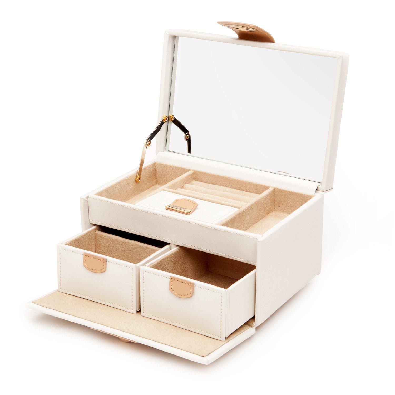 Amazoncom WOLF 301153 Chloe Small Jewelry Box Cream Home Kitchen