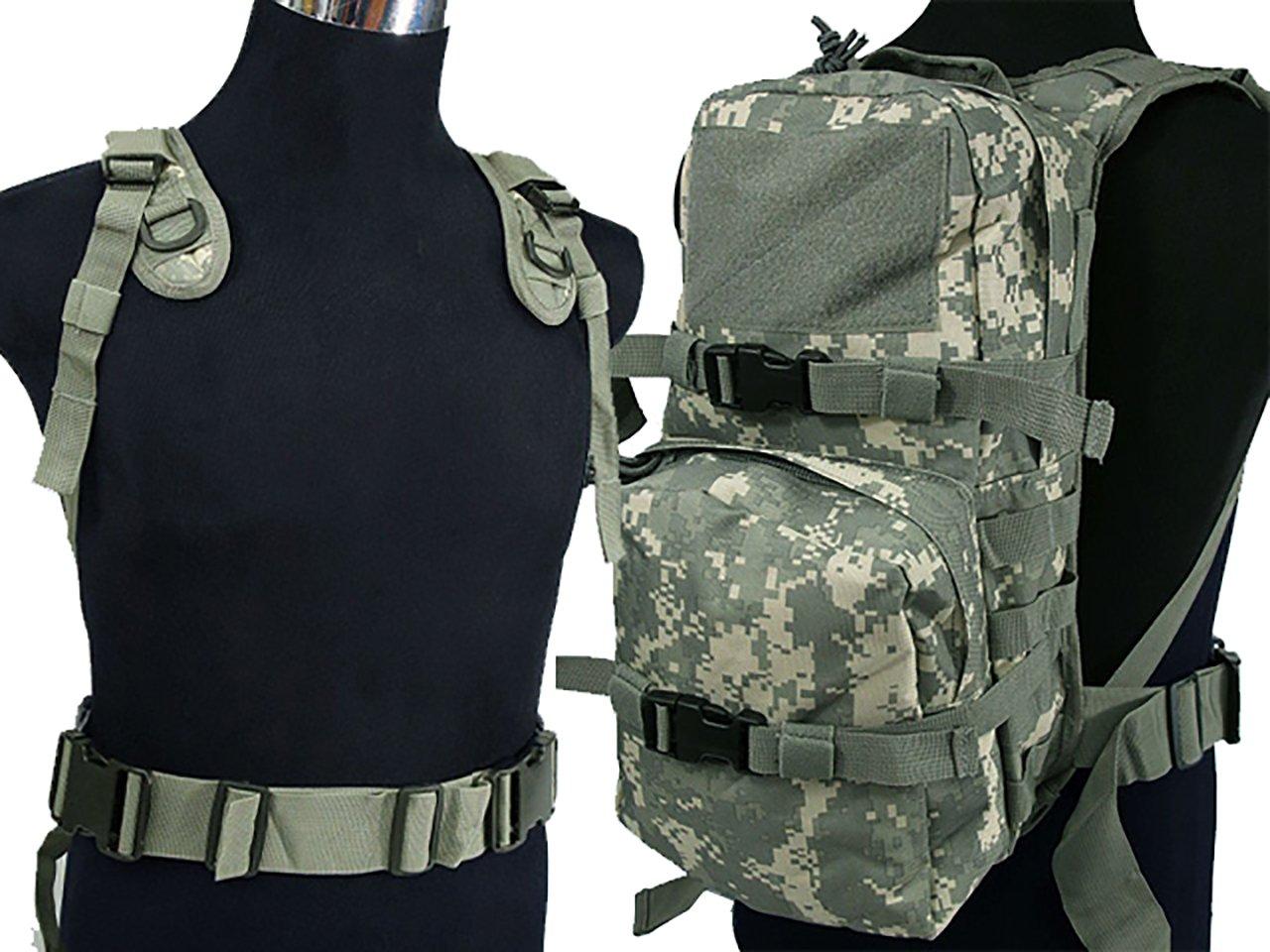 Tactical Molle 3L paquete de hidratación mochila de agua camping senderismo bolsa de caza 090 ACU