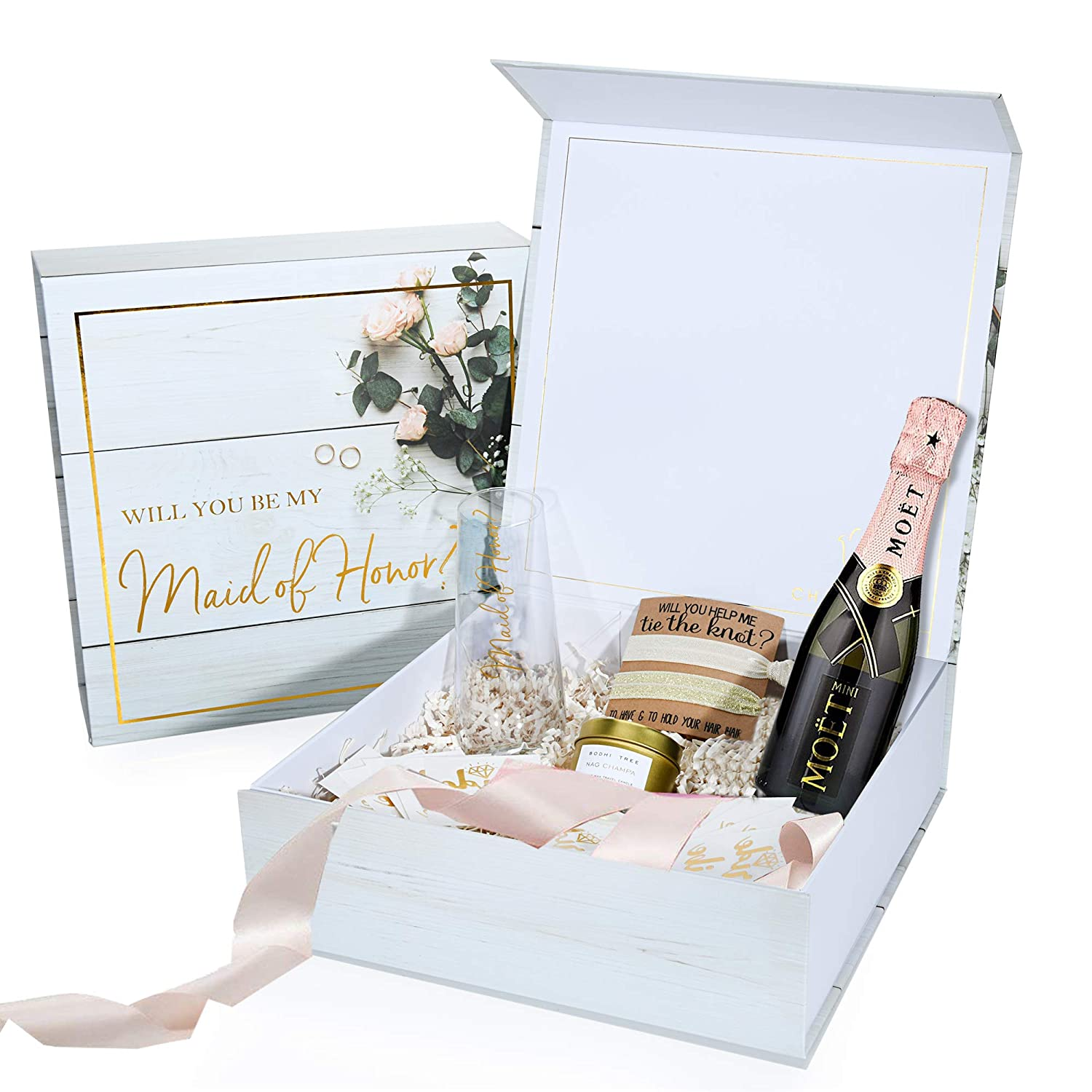Maid Of Honor Proposal Box Premium Gold Stamped Will You Be My