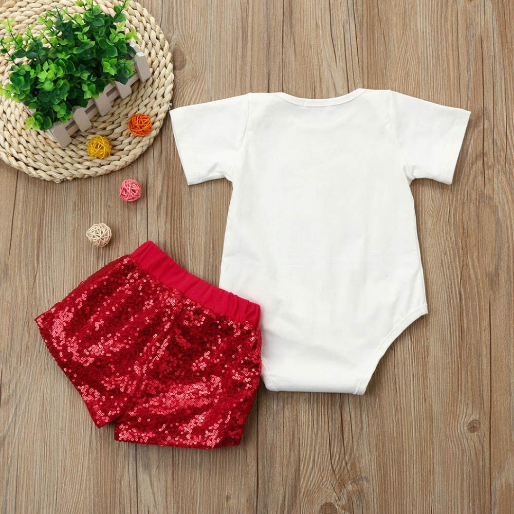 For 0-18 Months Baby,DIGOOD Christmas Toddler Baby Girls Boys Letter Gift Print Hoodie+Short Pants 2Pcs Outfits Set