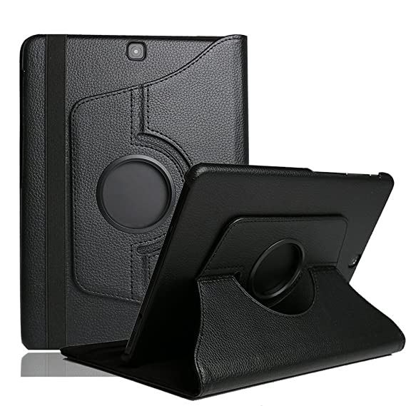 pretty nice d64a5 1dc54 Kingsource Samsung Galaxy Tab S2 8.0 Case 360 Degree Rotating Stand  Case,Folio Book Cover for Samsung Tab S2 8.0 inch Tablet SM-T710,SM-T715  Black
