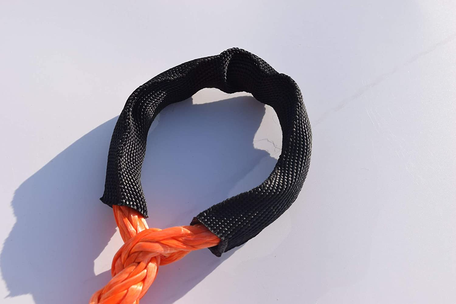 Winch Rope Extention,Synthetic Rope,Rope Extention for Off-road Car ATV UTV Jeep,Winch Cable 1//2x50ft, Orange