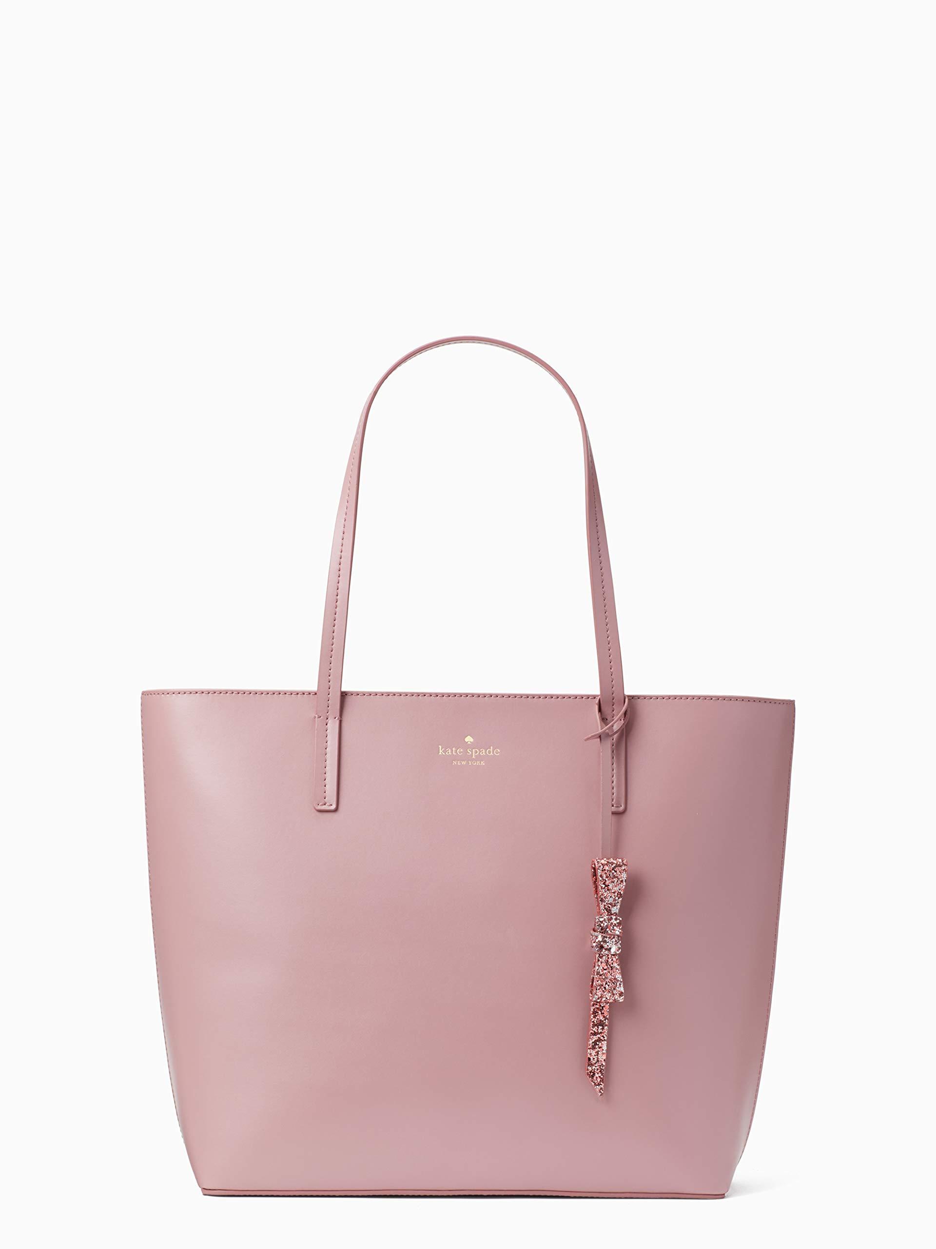 Kate Spade Seton Drive Karla Smooth Leather Tote Shoulder Bag Purse Handbag (DustyPeony)