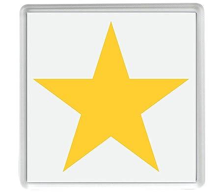 IamEngland Emoji Estrella Blanca Mediana 58mm x 58mm Nevera imán ...