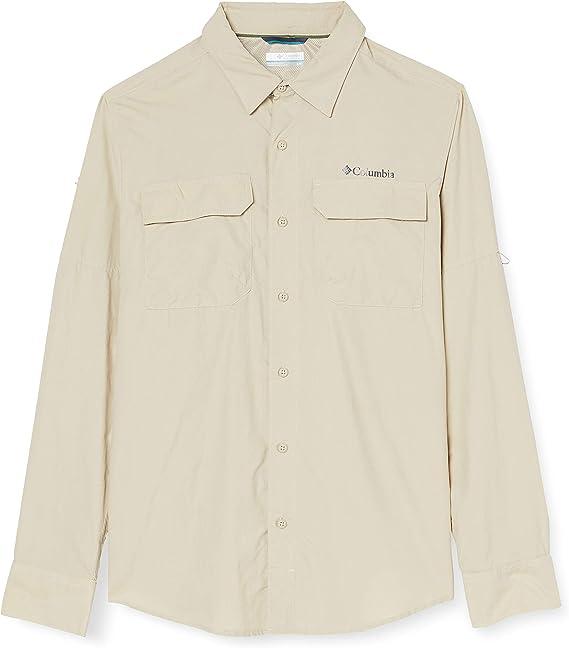 Columbia Silver Ridge II Camisa de Manga Larga, Hombre