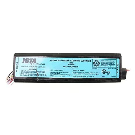 Fantastic Iota I 42 Em A Emergency Backup Battery 90 Min Operates 10W Wiring 101 Mecadwellnesstrialsorg