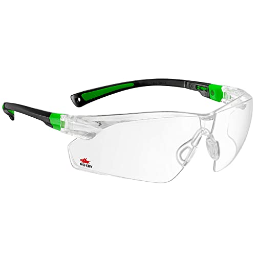 NoCry Safety Glasses with Clear Anti Fog Scratch Resistant Wrap