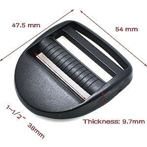 "10pcs Plastic Ladder Lock Slider Adjustable Buckle (1-1/2""(38mm))"
