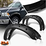 RedlineGoods Door Pull Covers Compatible with Toyota Tacoma 2005-15 Black Leather-Silver Thread