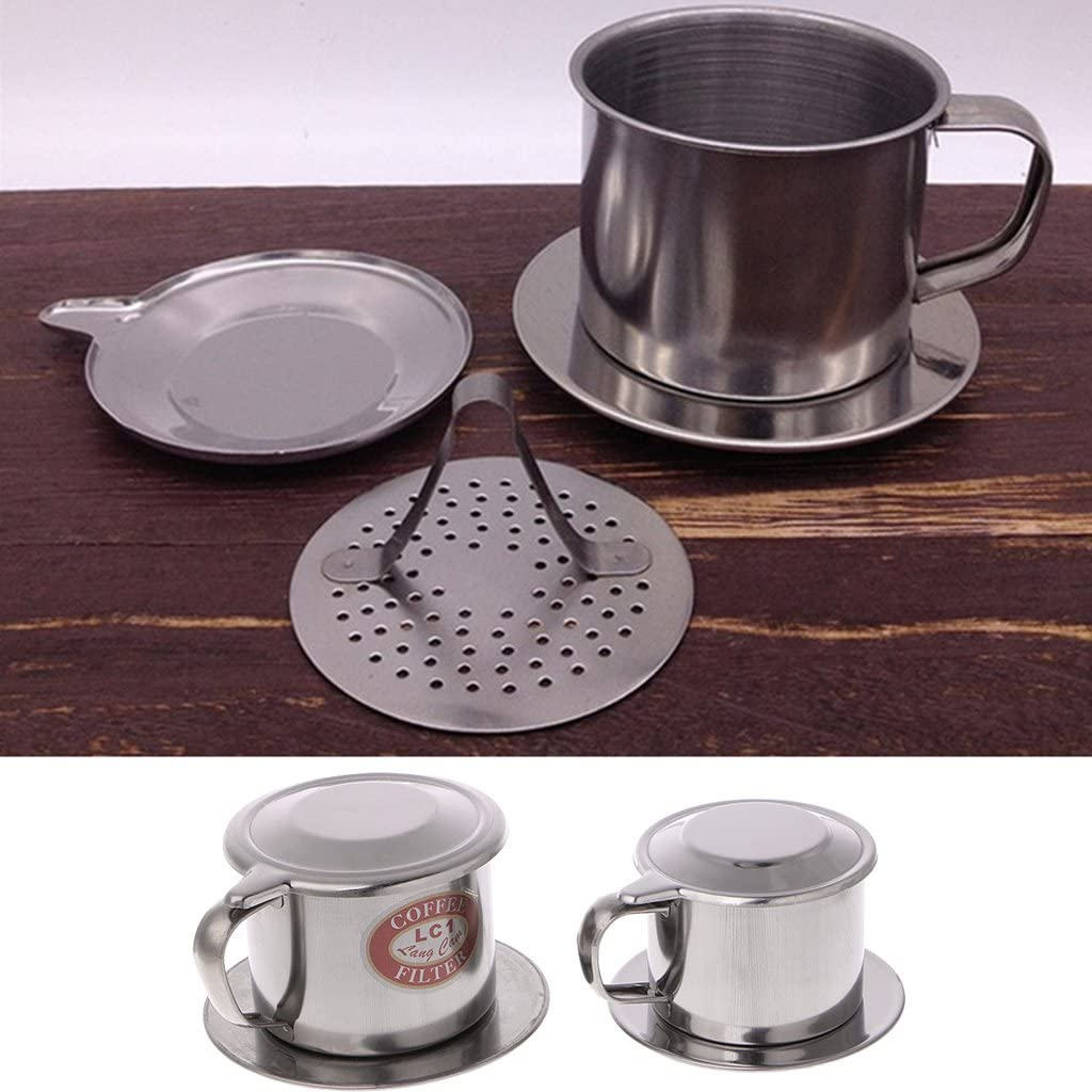 Milue Vietnamese Coffee Filter Stainless Steel Maker Pot Infuse Cup Serving Delicious S
