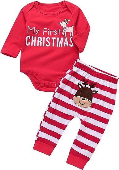 2pcs Kids Baby Boy Girl Clothes Top Pants Cotton Pajamas Sleepwear Outfit Set