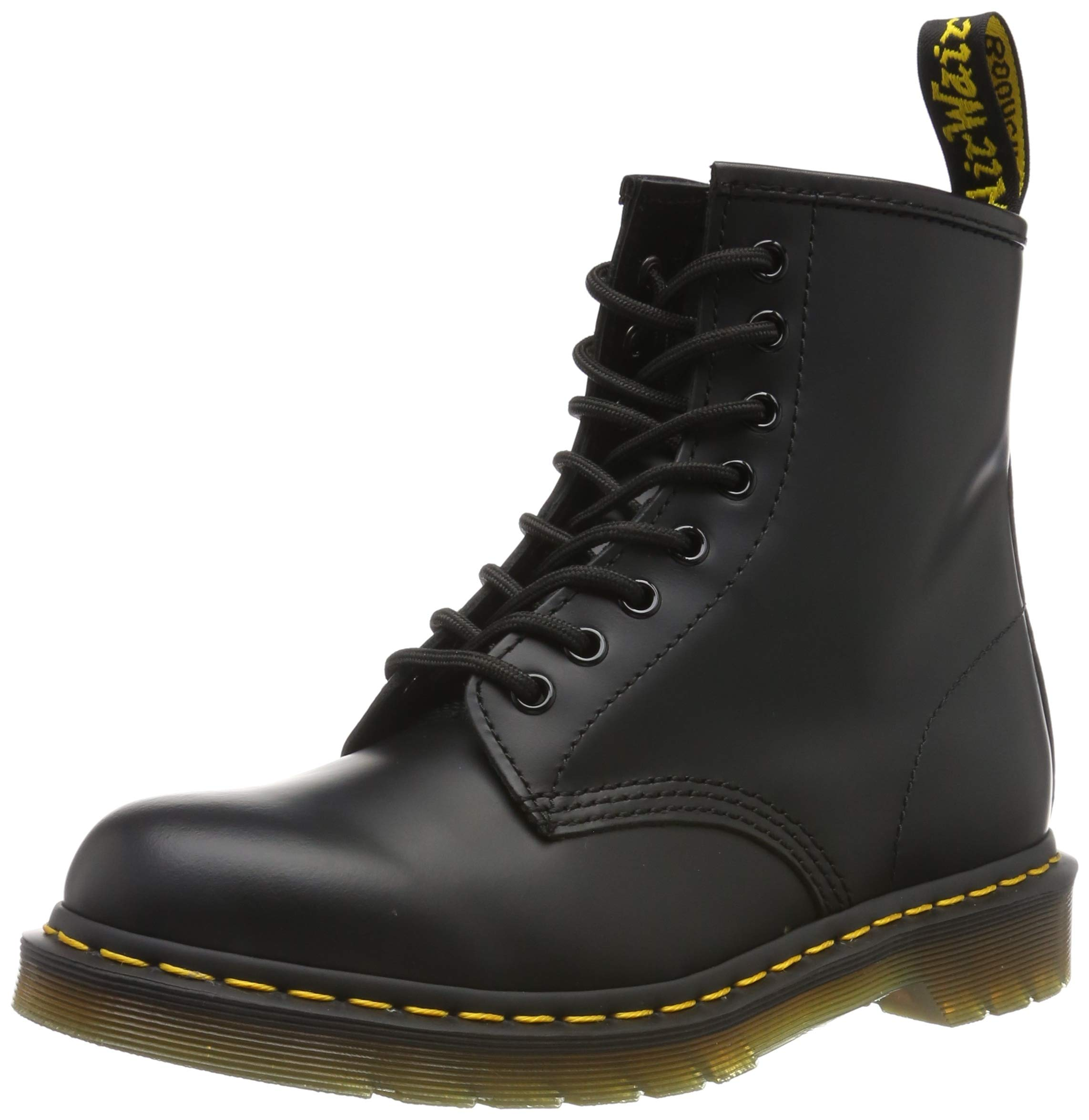 Dr. Martens 1460 Originals 8 Eye Lace Up Boot,Black Smooth Leather,3 UK (4 M US Mens / 5 M US Womens) by Dr. Martens