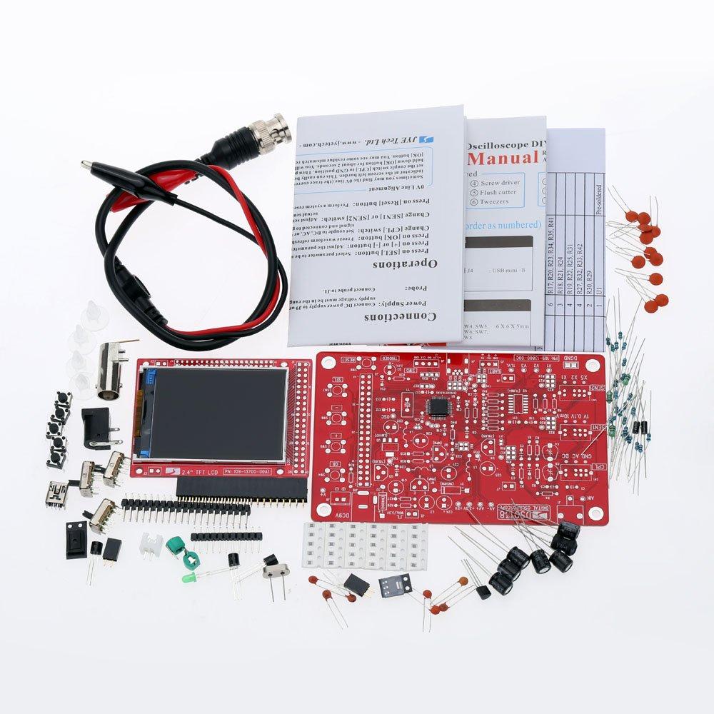 KKmoon DSO138 2.4 pouce TFT Oscilloscope Num/érique de Poche en Kit avec Sonde DIY Pi/èces pour Apprentissage Electronique 1Msps