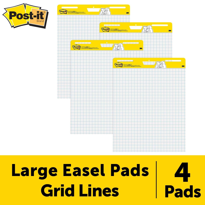 Post-it Easel Pad, 25 in x 30 in, 4 pads per pack, Blue Grid (560 VAD 4PK) (Renewed) by Post-it