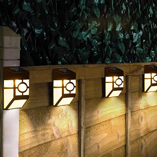 Lámpara de Pared Solar Jardín luz Solar Resistente al Agua ...