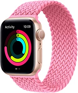 Solo Loop Strap Compatible with Apple Watch Band 38mm 40mm 42mm 44mm,Stretchable Braided With No Clasps or Buckles Sport Elastics Women Men Replacement Wristband for iWatch Series 6/SE/5/4/3/2/1