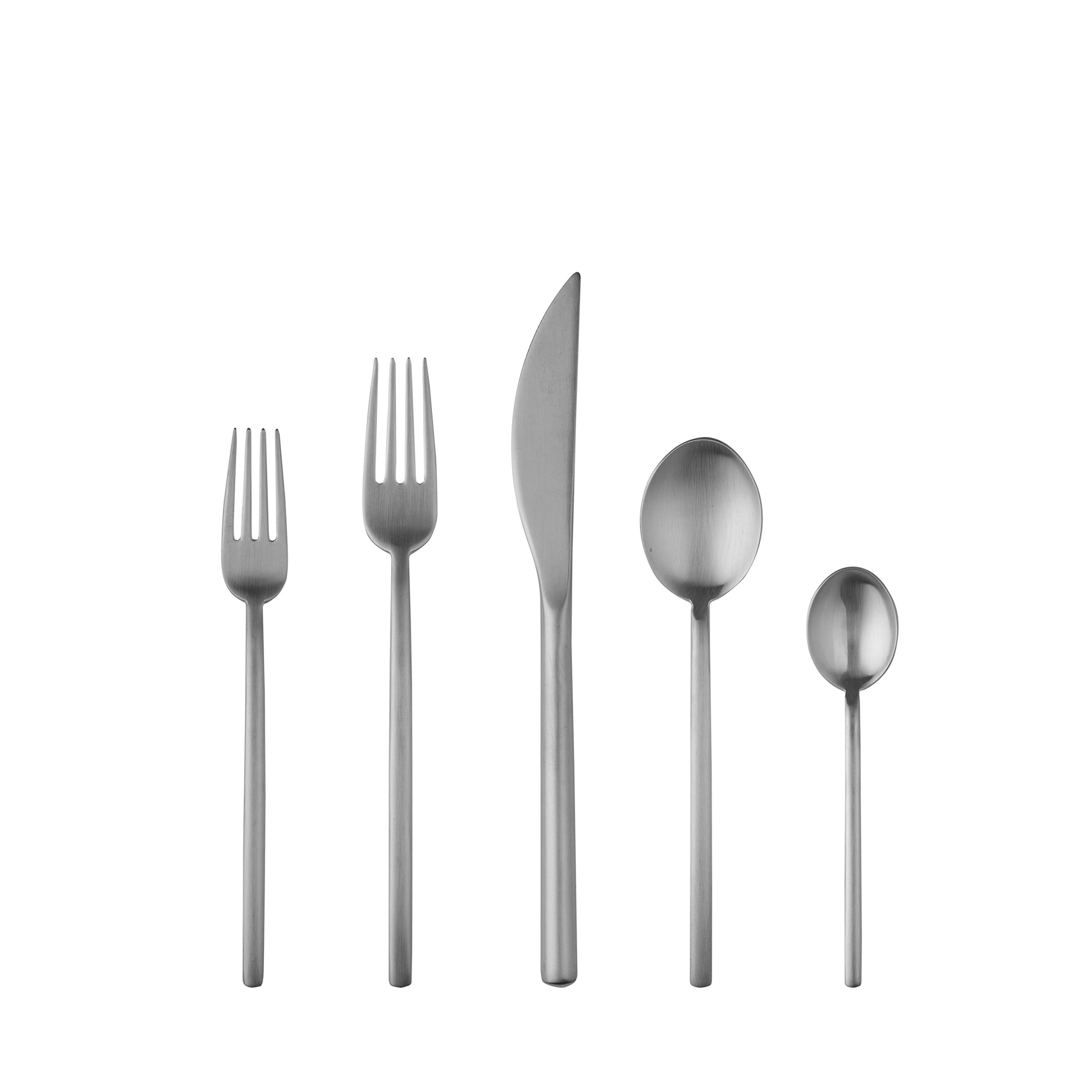 Mepra Due Ice 5 Piece Place Setting, Stainless Steel by MEPRA