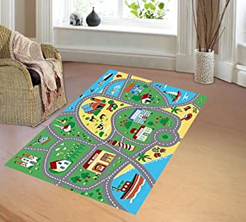 Amazon Com City Street Map Children Learning Carpet Play Carpet