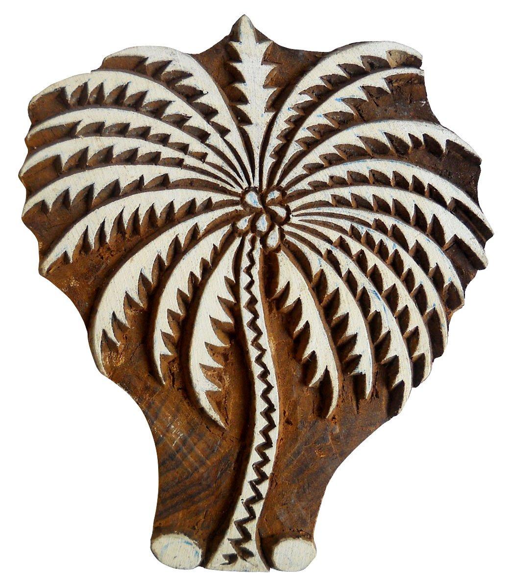 Coconut Tree Design Wooden Printing Block/Stamp Textile Fabric Printing