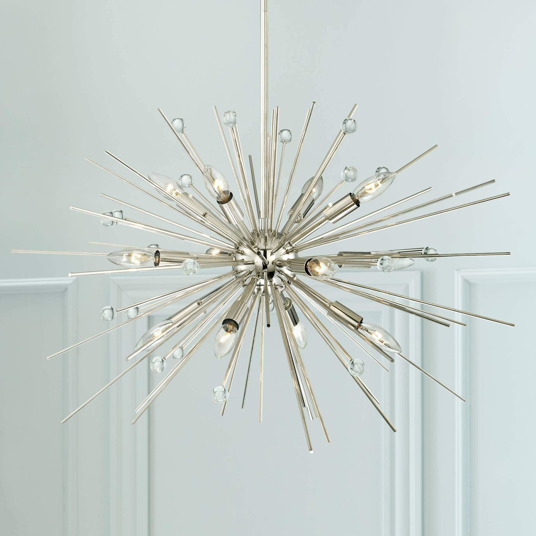Possini Euro Janae 29 1/2''W Polished Nickel Pendant Light - Possini Euro Design
