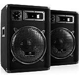"""2 Enceintes Passives Sono DJ 300W RMS subwoofer 12"""" Pack Pro"""