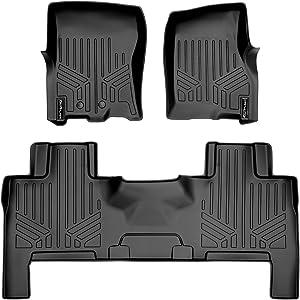 MAXLINER Floor Mats 2 Row Liner Set Black for 2011-2017 Ford Expedition/Lincoln Navigator (All Models Including EL and L)