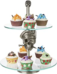 09c156c086c7d Mind Reader 2TPIRCAKE-SIL 2 Pirate, Party Pastry, Cupcake Holder, Tree Tower
