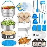25Pcs Accessories for Instant Pot 6,8 Qt, Aitbay Pressure Cooker Accessories Set, 2 Steamer Baskets, 2 Divider, Springform Pa