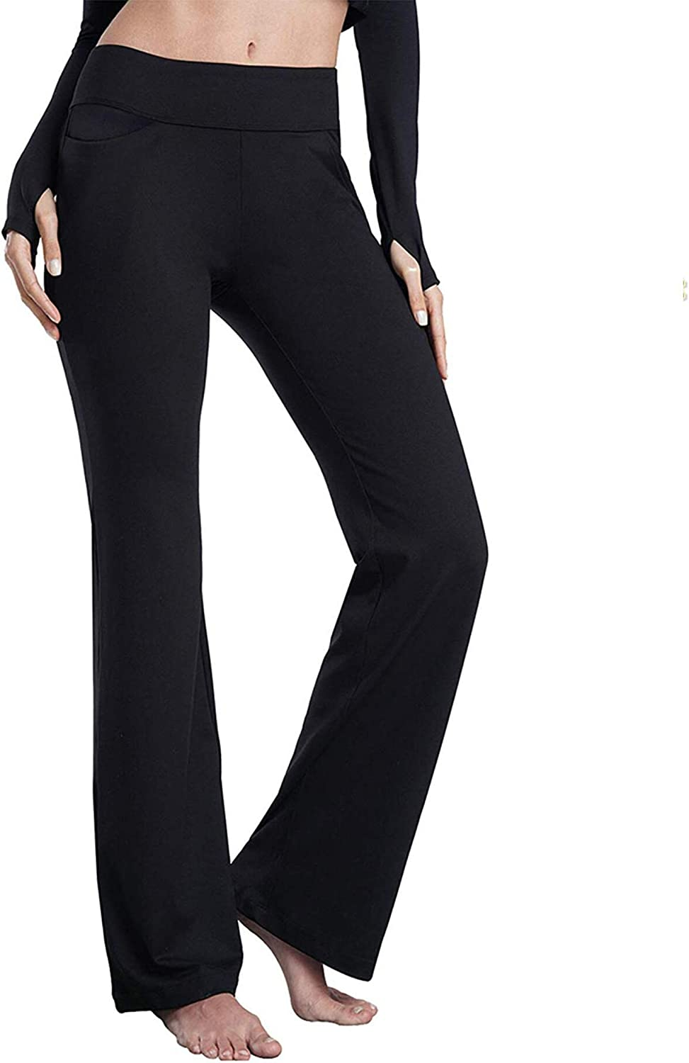 "romansong 27""/28""/29""/30""/31""/32""/33""/34""/35 Inseam Bootcut Yoga Pants for Women"