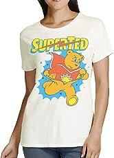 Retro Tees Ladies SuperTed Burst T-Shirt - Soft & Comfy