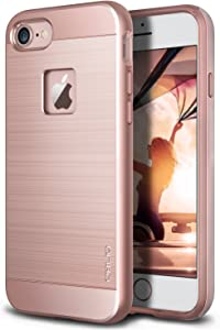 OBLIQ [Slim Meta] Designed for iPhone 8 Case, iPhone 7 [Military Grade Certified] Slim Metallic Brushed Premium Dual Layer Protection for iPhone 8 (Rose Gold)