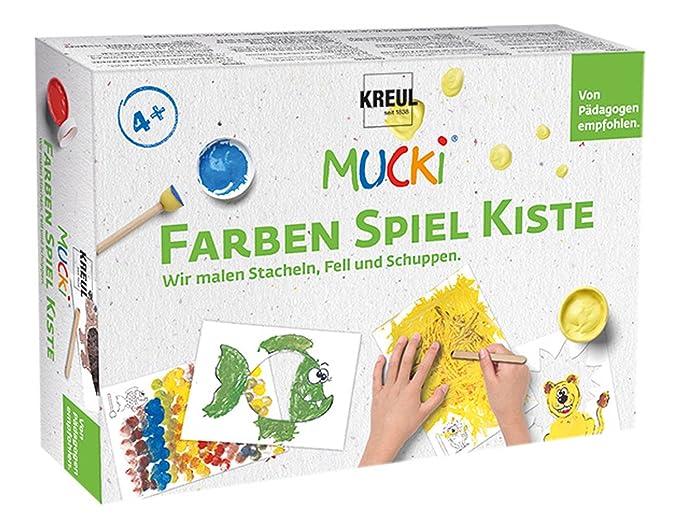Mucki 29102 - Farben Spiel Kiste Wir malen Stacheln, Fell und ...