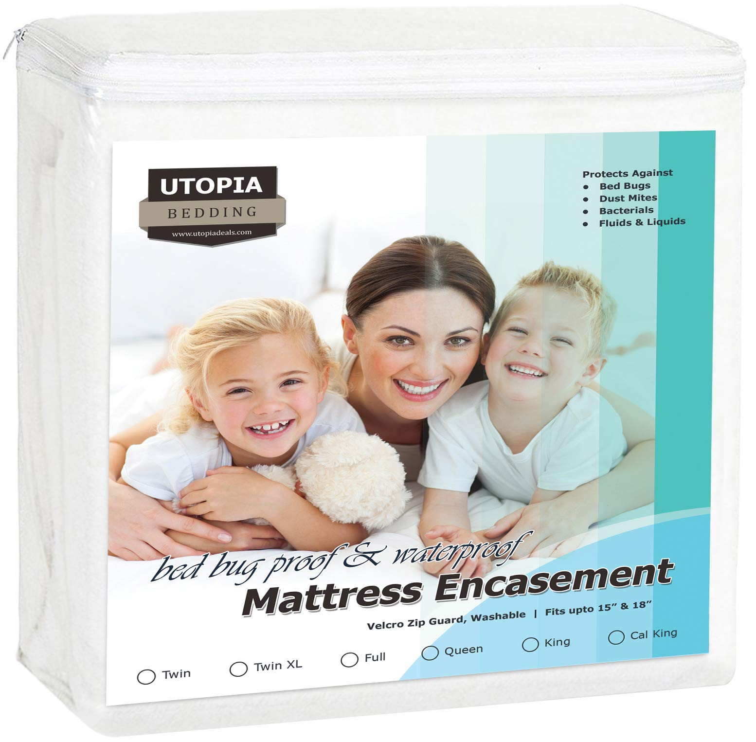 Utopia Bedding Zippered Mattress Encasement - Bed Bug Proof, Dust Mite Proof Mattress Cover - Waterproof Mattress Cover Protects from Insects Fluids (Twin) by Utopia Bedding