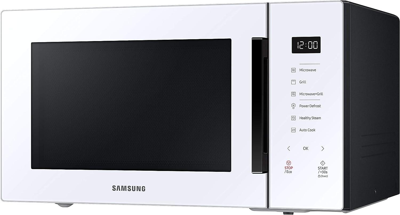 Desodorizaci/ón y Cocinado de Vapor Cer/ámica Enamel Blanco Microondas con Grill 30 L 900 W Samsung MG30T5018UW