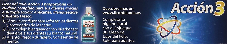 Licor del Polo - Dentífrico Acción 3 - 4uds de 300ml: Amazon.es ...