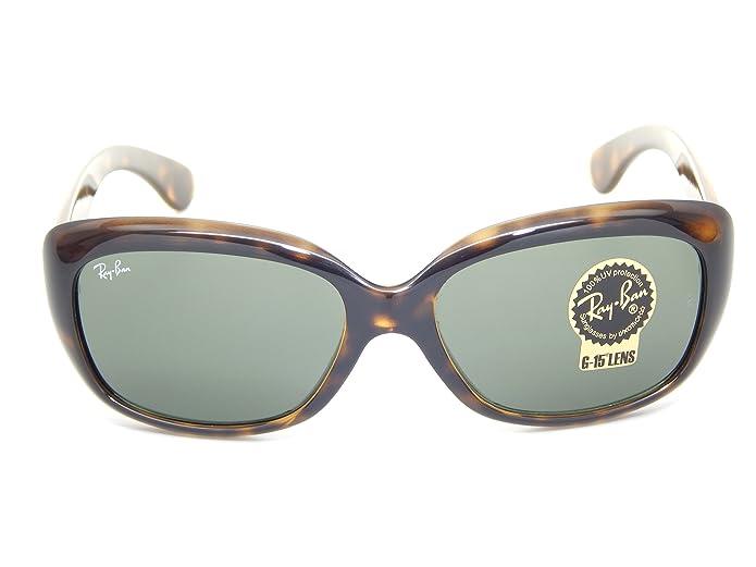 6f2a45b6e7 Amazon.com  New Ray Ban Jackie Ohh RB4101 710 Light Havana G-15 XLT 58mm  Sunglasses  Shoes