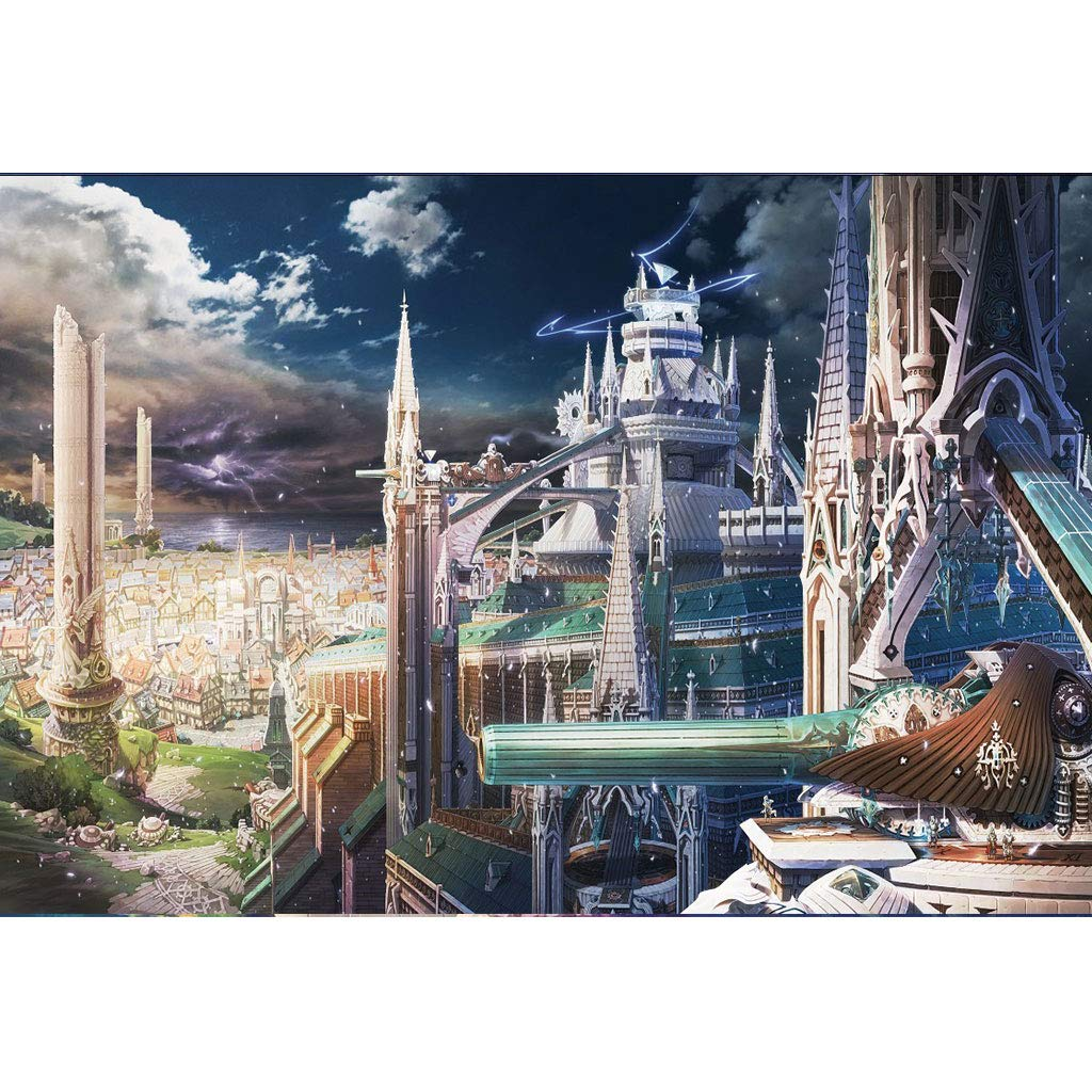 Puzzle House Basswood Wooden Jigsaw Puzzle, Magical City Japanese Comic, 500 1000 1500 Pieces Puzzles Game For Adults & Kids 503 (Size   1500pc)