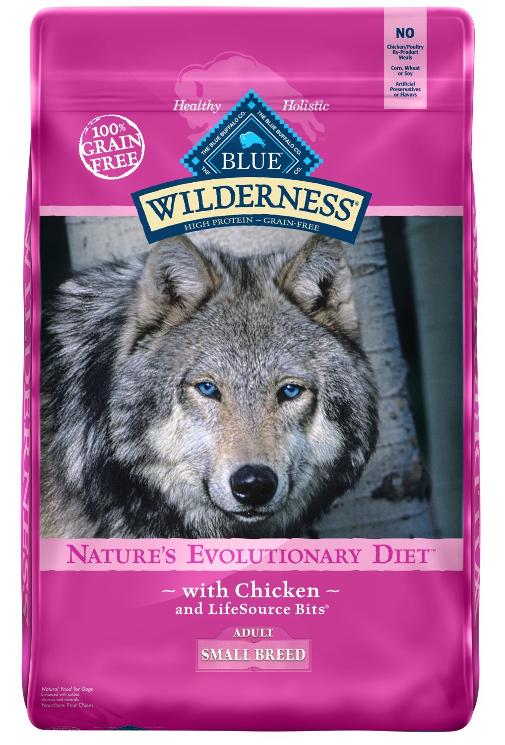 Blue Buffalo Wilderness High Protein Grain Free, Natural Adult Small Breed Dry Dog Food