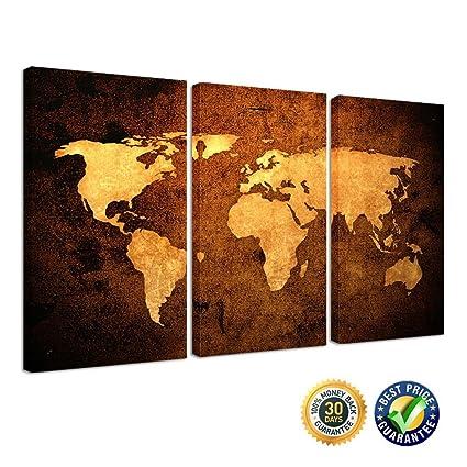 Amazon kreative arts vintage world map premium canvas art kreative arts vintage world map premium canvas art print large abstract wall art gumiabroncs Images
