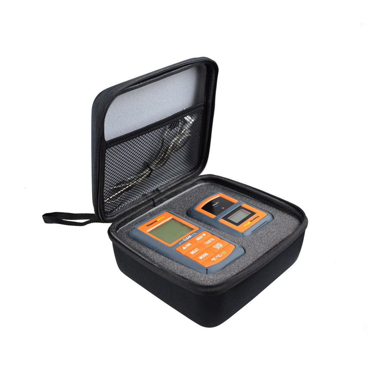 Hard Travel Case Bag for ThermoPro TP08 TP20 TP07 Wireless Remote Digital Kitchen Cooking Meat Thermometer by AONKE